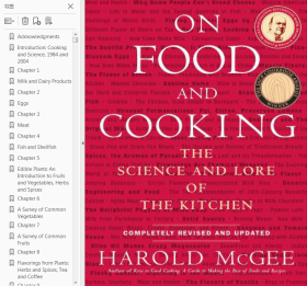 On Food and Cooking: The Science and