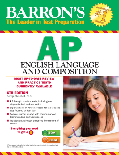 Barron's AP English Language and Composition Ehrenhaft, Geor